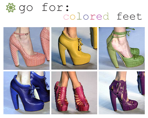 Go for colored feet