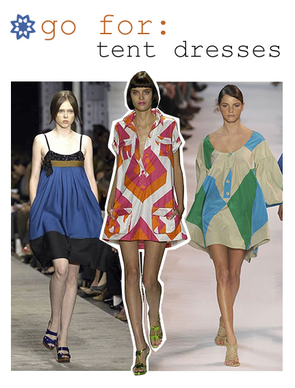Go for tent dresses