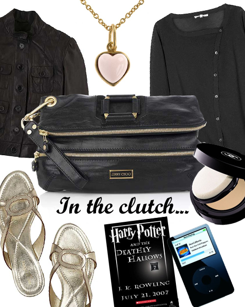 Jimmy choo+clutch