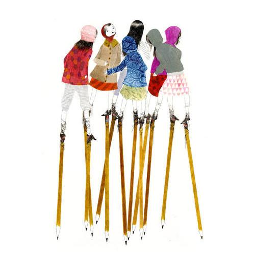 stilts illustration