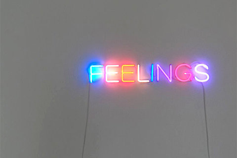 feelings light installation