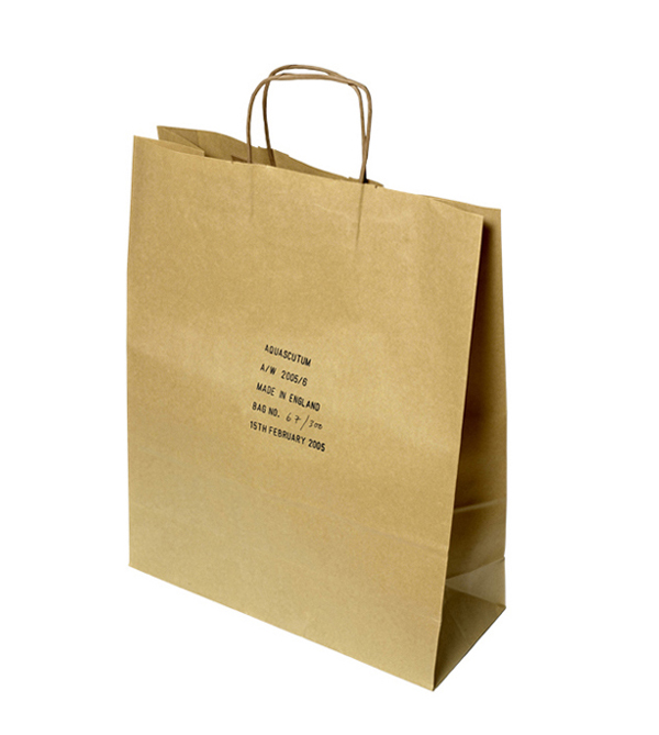 aquscutumn paper bag