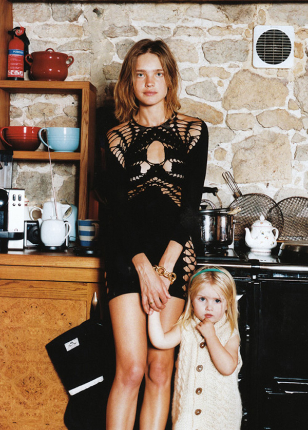 natalia vodianova + daughter