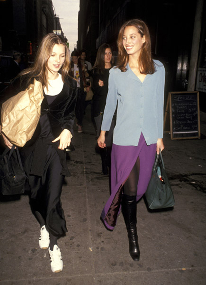 Kate Moss and Christy Turlington