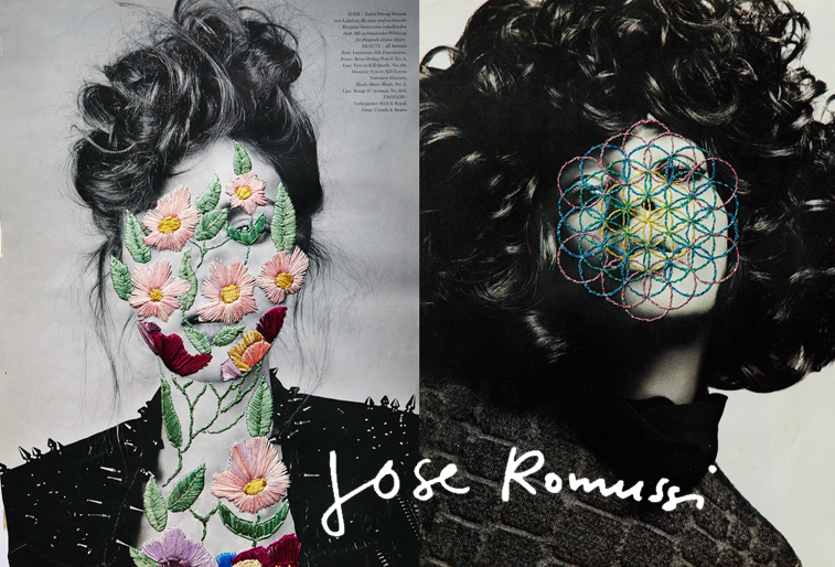 jose romussi artist embroidery fashion magazine