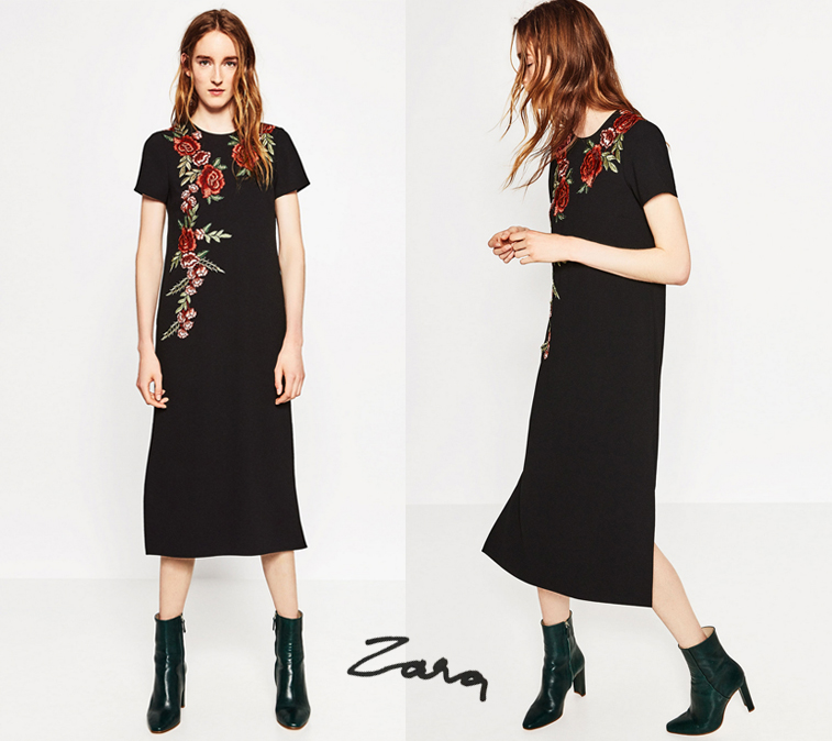 zara erdem embroidery black dress autumn 2016 collection