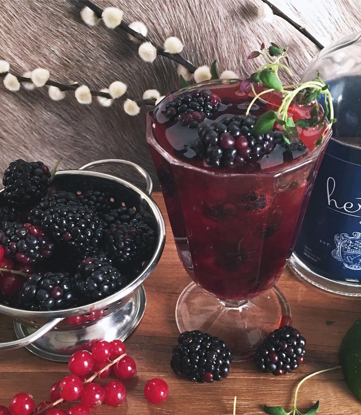 blackberries blackberry cocktail gin cocktail